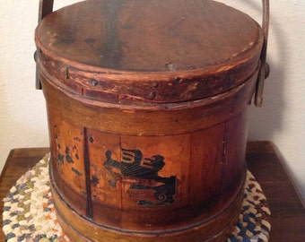Vintage Firkin, Shaker Salt Box, Sugar Box, Kitchen Storage