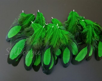 DIY Crafts Green Feathers DIY Supplies Emerald Green Craft Feathers Jewelry Supplies DIY Jewelry - 12