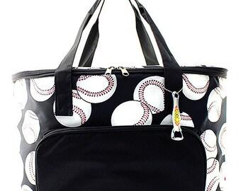 Monogrammed Cooler Bag, Personalized Baseball Cooler Tote, Large Insulated Cooler Bag, Beach Cooler, Pool Cooler, Boat Cooler, Picnic Cooler