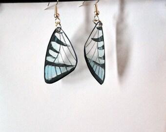 Handcrafted Butterfly earrings, stainless steel earrings, jewelry, fish hook earrings, Dangle earrings, butterfly wing earrings,