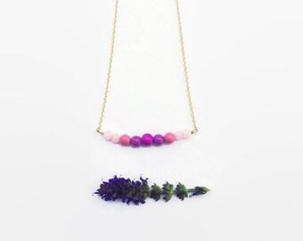 Little Girls Jewelry Beaded Necklace . Purple
