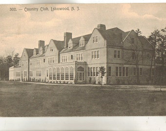 Vintage Postcard, Lakewood, New Jersey, Country Club, 1912