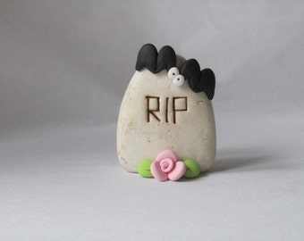Polymer Clay Tombstone Halloween Decoration