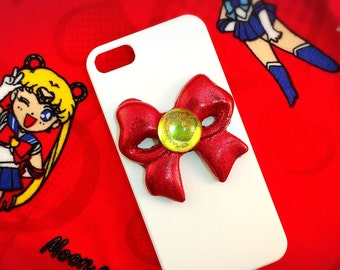 Sailor Moon Inspired iPhone Case Red Bow for iphone 5, and iPhone SE