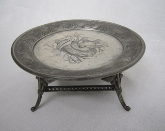Aesthetic Silverplate Tray, Meriden