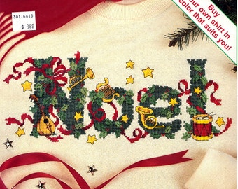 A MUSICAL NOEL Counted Cross Stitch on Waste Canvas Kit Sunset New #18349