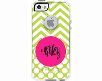 Chevron & Dots Monogrammed Otterbox Commuter Case for iPhone SE, iPhone 6/6s PLUS, iPhone 6/6s, iPhone 5c, iPhone 5/5s, Galaxy S7