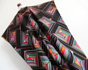 The Geometric Side Of Art . Print Dress Caftan One Size 70s osfa os xxl xl Plus Size Rare Larger Size