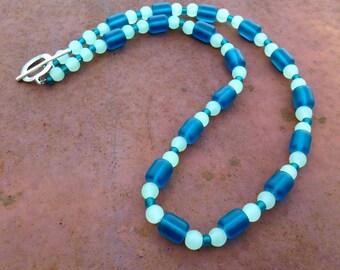 Ocean Waves Sea Glass Necklace