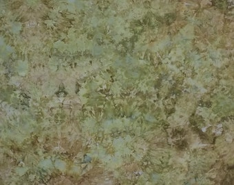 Hand Dyed Fabric, Ice Dyed Cotton Quilt Fabric, 1 Yard (LS) #126