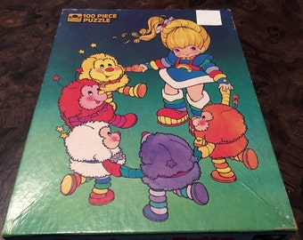 1983 Rainbow Brite puzzle - Vintage jigsaw cartoon - by Golden