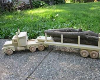 Waldorf Wooden Logger Truck