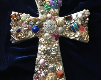Jewelry Decorative Cross Antique Gold Wall Ornament #473434869