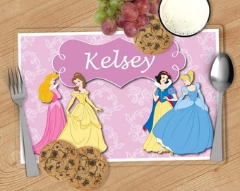 Princess - Kids Personalized Placemat, Customized Placemats for kids, Kids Placemat, Personalized Kids Gift