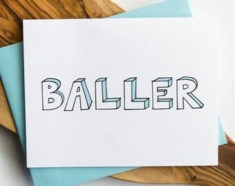 Baller Greeting Card