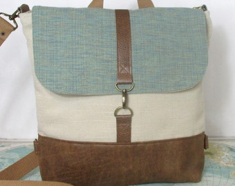 Sacramento // Messenger bag // Crossbody purse // Backpack convertible // Travel bag // Carry on // Mint // Preppy // Vegan // Ready to ship