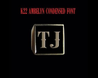 Solid Bronze TJ Initial Ring - Free Re-Size/Shipping