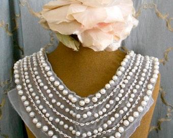 Pearl and Rhinestone Collar