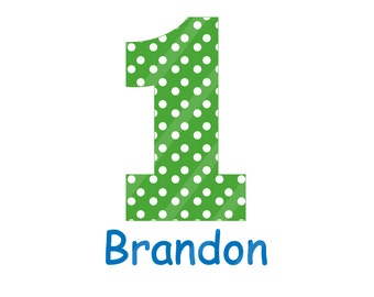 Birthday Number Images Personalized Digital Download for iron-ons, heat transfer, Scrapbooking, Cards, Tags, Invitations, DIY, YOU PRINT