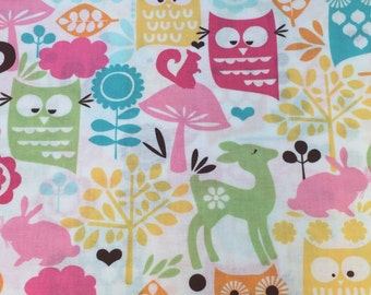Michael Miller Forest Life in Watermelon One Yard Fabric READY TO SHIP!!