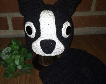 Boston Terrier Hat and Diaper Cover Crochet Pattern