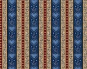 Quilting Treasures - Dan Morris - For Love of Country - Heart & Scroll Stripe