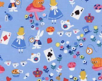 Timeless Treasures - Alice in Wonderland - Blue