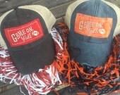 SALE!! Boho Game Day Alabama Auburn Georgia Distressed Trucker Hat