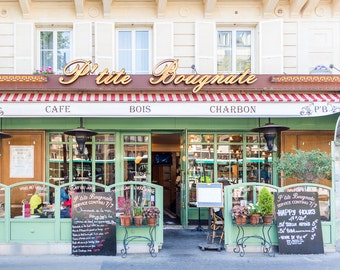Paris Photography - Petite Bougnate Cafe, Paris Cafe, Fine Art Travel Photograph, Paris Decor, Gallery Wall, Paris Art Print, Large Wall Art