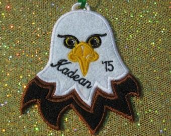 Personalized Eagle Ornament or Gift Embellishment - Eagle Head
