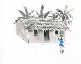 African Woman Art Illustration