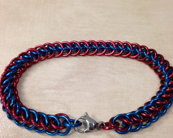 Blue and red half persian 3 in 1