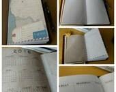 2017: Traveler' Notebook Planner Insert- 12 months/52weeks