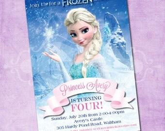 Elsa Frozen Birthday Invite