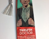 Upcycled Twelfth Doctor Comic Book Bookmark