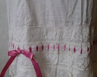 Antique Edwardian Gorgeous Underslip with deep lace
