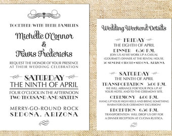 Simple Elegance Wedding Invitation Set