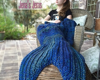 Mermaid Tail Blanket Adult size Made to Order