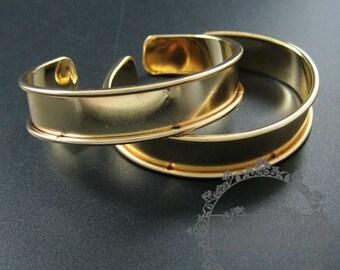 2pcs 11mm width bezel,60mm diameter silver plated vintage style bangle adjustable bracelet DIY supplies,findings 1900108