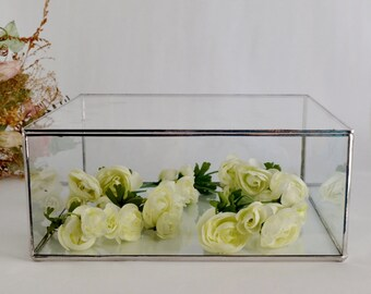 Large Glass Display Box Glass Jewelry Box Gift For Her Wedding Display Box Clear Glass Jewelry Box. Made To Order