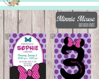 Printable Minnie Mouse Birthday Invite