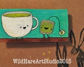 Hand Drawn Tea for Two Magnet