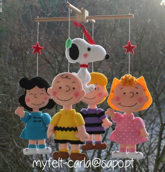 Charlie Brown Mobile Baby Crib Mobile Nursery By