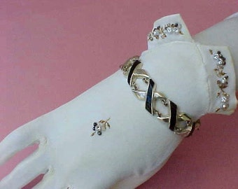 """Beautiful Vintage Sterling Silver Mexican Silver Taxco Bracelet Signed: """"Ledesma"""""""