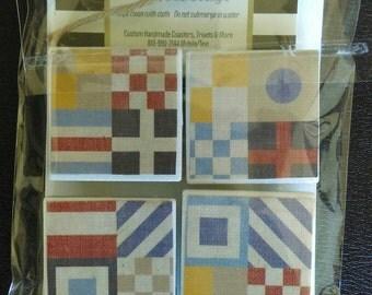 Nautical Flags Set of 4 Magnets, Lake House Man Cave, Nautical,  Great Gift Idea, Fridge Decor, Refridgerator