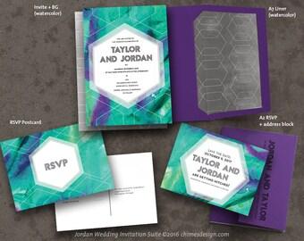 JORDAN (Abstract Art) Invitation Suite Printables