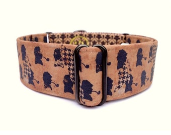Grunge Sherlock Holmes Dog Collar - 1 inch or 1.5 inch Adjustable Martingale Collar or Buckle Dog Collar