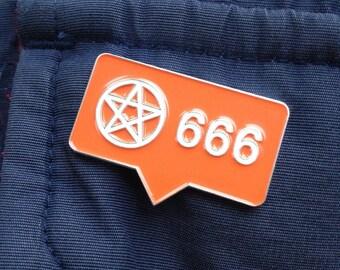 666 Instagram Pentagram Pin. Follow me TO HELL!!