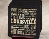 Louisville Kentucky Coaster / Louisville KY Attractions / Louisville Souvenir / Kentucky Souvenirs Louisville / Louisville Gift - LHA-216