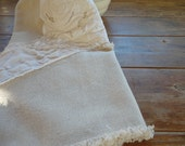 Linen Rustic Table Runner UPCYCLED Flax Linen French Country Table Linens  Table Runner